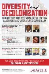 poster for panel on diversity decolinization